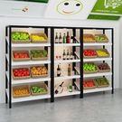 精品水果架展會多層中島展示架超市貨架紅酒...