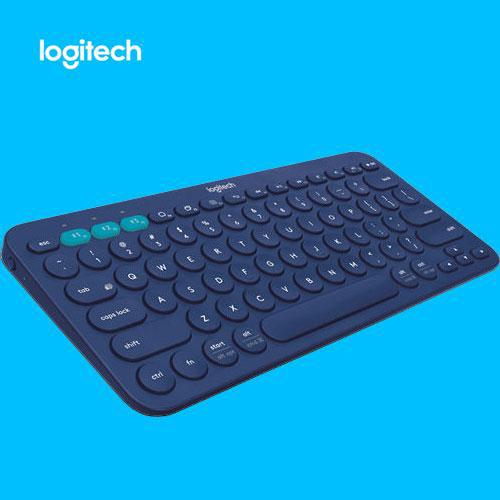 【限時送羊毛氈保護套】 Logitech 羅技 K380 多功能 跨平台藍牙鍵盤 藍色