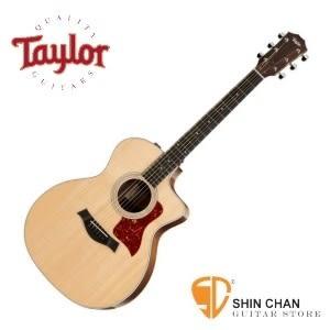 【214-ce DLX/木吉他/GA桶身】Taylor 214ce DLX 單板 木吉他 可插電切角民謠吉他 墨廠 附硬盒