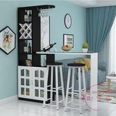 吧台桌家用酒柜客廳隔斷玄關柜創意組合簡約現代轉角靠墻旋轉吧台
