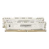 Micron Crucial 美光 Ballistix Sport LT DDR4 3200 16G 16GB(8Gx2) 電競競技版 白散熱片 桌上型記憶體