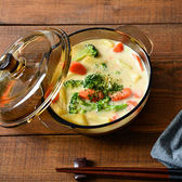 茶色玻璃煲帶蓋湯碗微波爐碗泡面碗1L