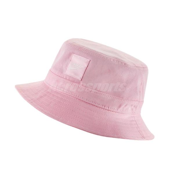 Nike 帽子 NSW bucket hat 粉 白 男女款 漁夫帽 【ACS】 CK5324-663