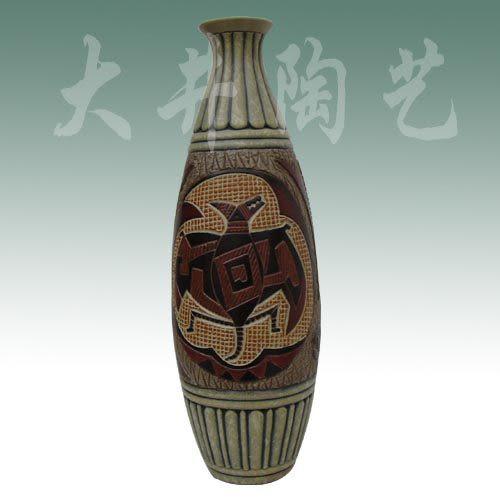 陶藝結婚生日禮物擺設工藝品小保齡福到花瓶裝飾品
