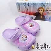 【樂樂童鞋】【台灣製現貨】冰雪奇緣閃燈布希鞋 F038 - 現貨 台灣製 女童鞋 涼鞋 布希鞋 拖鞋