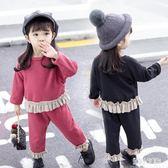 中大尺碼女童套裝 童裝秋冬款寶寶加絨加厚小童洋氣嬰兒童套裝 nm16183【甜心小妮童裝】