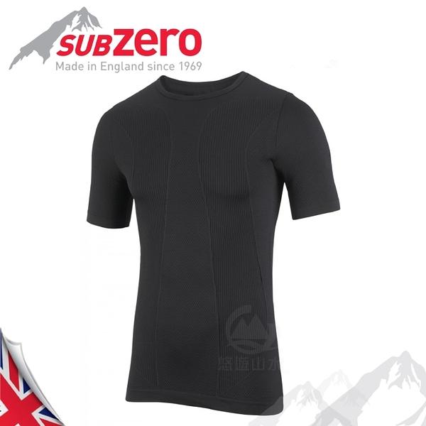 【Sub Zero 英國 Factor1+ 短袖無縫排汗衣《黑》】Factor 1 PLUS/內層衣/運動衣/防曬