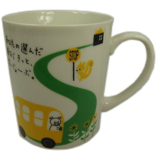 Shinzi Katoh heart warming collection pig&bus馬克杯(含運價)