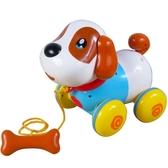 智能機器狗拉線電動狗狗走路會唱歌仿真益智牽繩寵物小狗兒童玩具