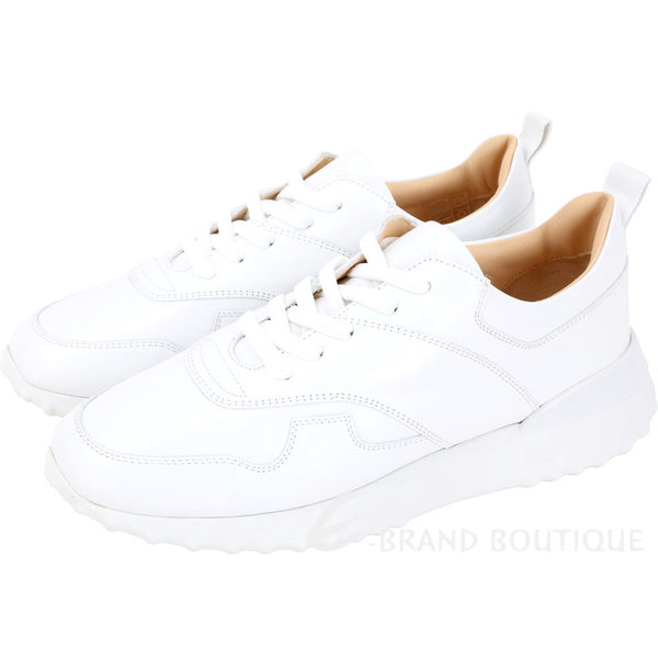 TOD'S 可拆鉚釘豆豆流蘇飾片繫帶運動鞋(白色) 1910256-20