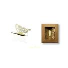 【收藏天地】創意小物*鋁合金質感冰箱貼-冷碎蝶系列 - 金黃/ 藏書夾 生活文具 禮品 文青