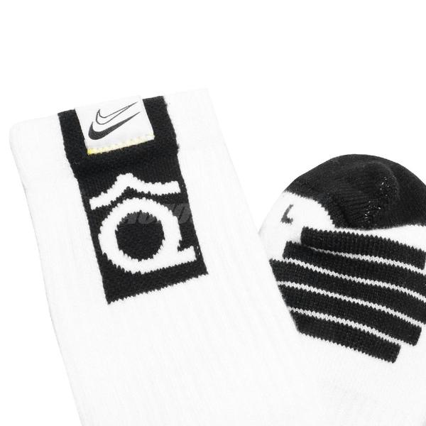 Nike 襪子 Elite Crew Socks Kevin Durant KD 單雙入 長襪 籃球襪 【ACS】 SK0083-100