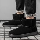 馬丁靴 冬季男鞋加絨保暖靴子男防水馬丁靴一腳蹬懶人面包棉鞋【新年禮物】