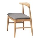 【森可家居】溫斯頓本色灰布餐椅 8HY4...