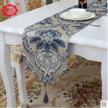 新品品質綢緞面料桌旗歐式奢華宮廷範布藝茶几桌布床尾巾  33*210cm