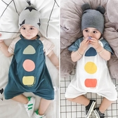 嬰兒連體衣夏季薄款網紅0-3個月寶寶衣服6短袖8夏裝純棉新生兒1歲 布衣潮人