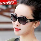 太陽/沙灘眼鏡 女士駕駛偏光太陽鏡新品時尚大框眼鏡女潮瘦臉開車防紫外復古墨鏡 酷我衣櫥