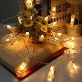 LED彩燈自拍照片夾子燈房間墻面裝飾燈生日舞會表白創意電池掛燈