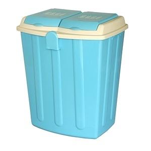 【this-this】二分類掀蓋式垃圾桶75L - 水藍色