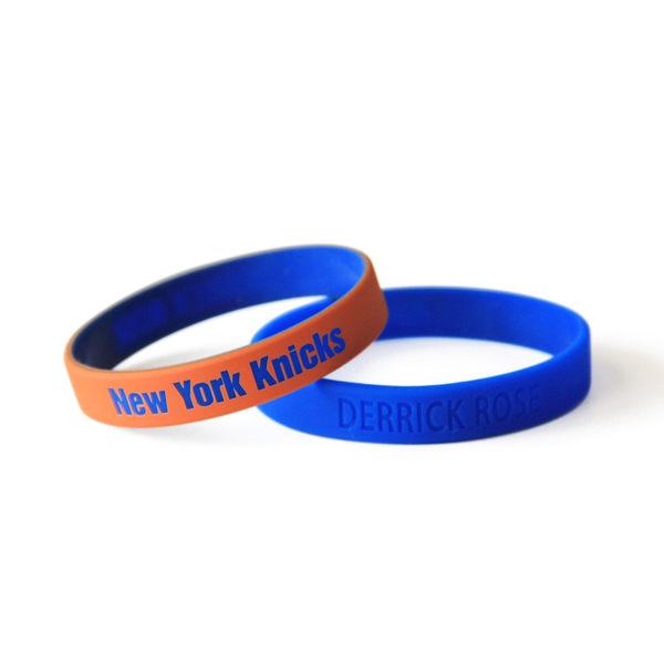 2016 NBA 官方授權 紐約尼克 Knicks 飆風玫瑰羅斯 Derrick Rose 運動矽膠手環 籃球運動手環1組兩條