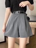 五分褲 夏季韓版2020新款高腰顯瘦百搭網紅同款短褲黑色闊腿褲五分褲女裝快速出貨