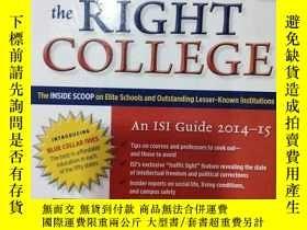 二手書博民逛書店Choosing罕見the Right College 2014