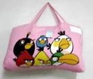 【貝淇小舖】 ~2013 台灣精製 【ANGRY BIRDS】粉兩用鋪棉兒童睡袋~加大款