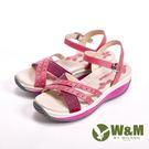 【W&M】FIT 春夏繽紛厚底涼拖鞋 女鞋-桃(另有淺藍)