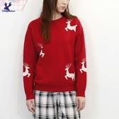 【秋冬新品】American Bluedeer - 麋鹿緹花針織上衣 二色