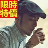 鴨舌帽-有型防曬遮陽男貝雷帽5色57j11【巴黎精品】