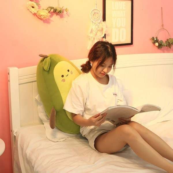 牛油果毛絨玩具抱枕玩偶公仔大號布娃娃女生睡覺女孩床上超萌可愛