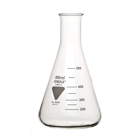 《KIMBLE》三角燒瓶 ISO Flask, Erlenmeyer, Narrow Mouth, ISO