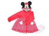 ♥小花花日本精品♥迪士尼Disney米妮Minnie造型點點圖案紅色雨衣-S號附收納袋兒童雨衣 57038209
