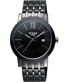 VOGUE 尊爵時尚羅馬腕錶-IP黑 2V1407-231D-D