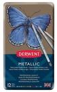 DERWENT達爾文12色彩色金屬色鉛筆*0700456