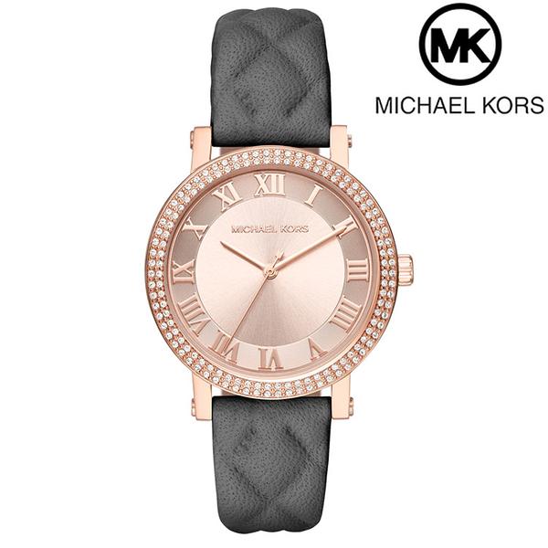 【萬年鐘錶】Michael Kors 羅馬時標 晶鑽錶圈  不鏽鋼錶 玫瑰金殼 玫瑰金面 MK2619