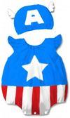 貝比幸福小舖~01699 A ~ 百搭可愛卡通 無袖包屁衣帽子大集合24 美國隊長