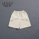 Queen Shop【04130089】基本休閒多口袋造型五分短褲 1/2/3*現+預*