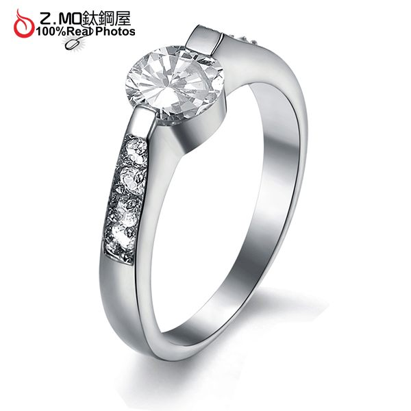 [Z-MO鈦鋼屋]高級水鑽簡約設計/專櫃品質/媲美鑽石/優雅加分單件價 【BKS1526】