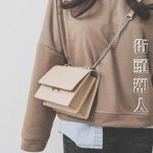 2018新款韓版潮百搭迷你chic鏈條單肩斜挎包  街頭潮人