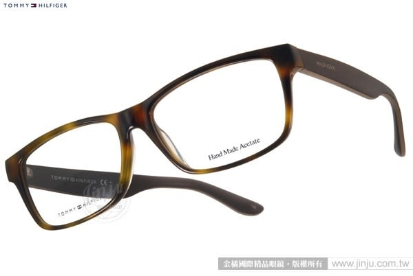 TOMMY HILFIGER 光學眼鏡 TH5028J GPS (琥珀-棕) 沉穩經典方框款 # 金橘眼鏡