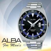 ALBA 雅柏 手錶專賣店 國隆 AS9D07X1 石英男錶 不鏽鋼錶帶 防水100米 日期顯示 全新品 保固一年