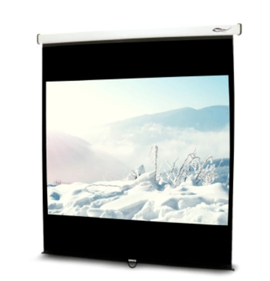 《名展影音》流線型輕巧 UNICO雅典娜系列CA-H100(1:1) 100吋手動席白壁掛布幕 安裝容易