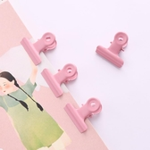 10枚ins風復古粉色女圓尾夾金屬長尾夾