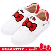 HELLO KITTY X Ann'S美式漢堡爆米花-蝴蝶結魔鬼氈躲貓貓球鞋