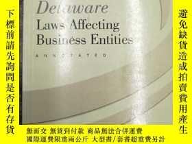 二手書博民逛書店Delaware罕見Laws Affecting Busines
