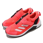 adidas 慢跑鞋 4uture Sport AC K 紅 白 女鞋 中童鞋 大童鞋 魔鬼氈 運動鞋 【ACS】 FW9763
