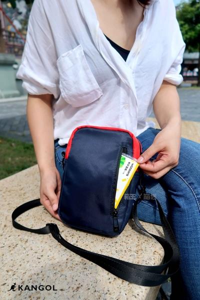 KANGOL 袋鼠 經典Logo刺繡 網袋包 小方包 側背包 斜背包 隨身小包 6025301300 (三色)