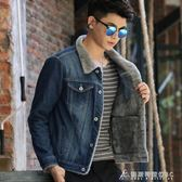 牛仔外套秋冬季青少年男士牛仔外套男加絨加厚夾克上衣學生韓版修身棉衣褂 酷斯特數位3c