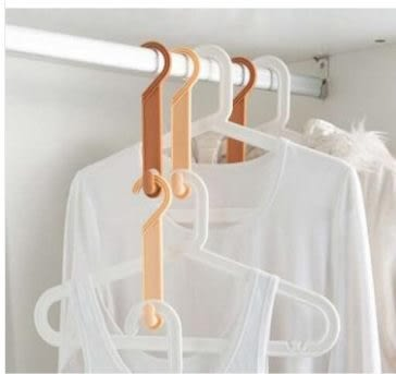 預購-創意衣櫃衣架轉化鉤 pp材質衣櫃掛鉤 可愛包包整理掛衣鉤(一組二個)